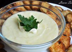 Skordalia piure de cartofi cu usturoi 30 Minute Meals, Vegan Recipes, Gluten Free, Pudding, Desserts, Food, Drinks, Kitchen, Canning