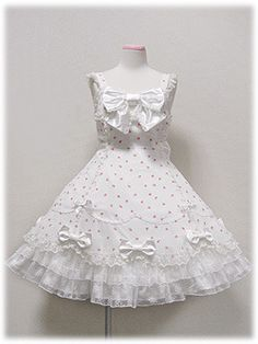 """""""Angelic Pretty - Romance Rose JSK in Black, White and Pink """" Kawaii Fashion, Lolita Fashion, Girl Fashion, Fashion Dresses, Cute Dresses, Beautiful Dresses, Vintage Dresses, Cute Outfits, Filles Alternatives"""