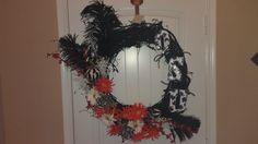 custom Oklahoma state university wreath by HendrixHaven on Etsy, $90.00