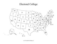 Presidential Election, Electorial College, Electoral College Map, Printable Maps, United States Map, State Map, Family Photos, Politics