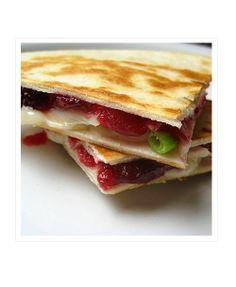 Turkey Cranberry Quesadillas #recipe via @Real Mom Kitchen | Laura ...