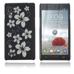 Flowers (Black) LG Optimus L9 Case