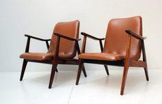 Vintage mid century modern chairs 2x