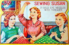 vintage needle poster