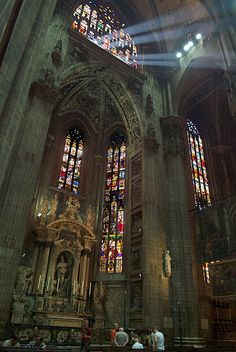 Interior of the Milan Cathedral