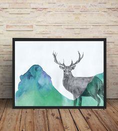 """Kunst Druck """"Deer"""" von mind on the paper auf DaWanda.com"""