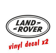 LAND ROVER LOGO  CAR DECALS Vinyl Stickers - Graphics X2