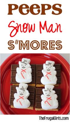 Peeps Snowman S'mores! ~ from TheFrugalGirls.com ~ even on chilly days S'mores make a fabulous sweet treat! #peeps #smores #thefrugalgirls