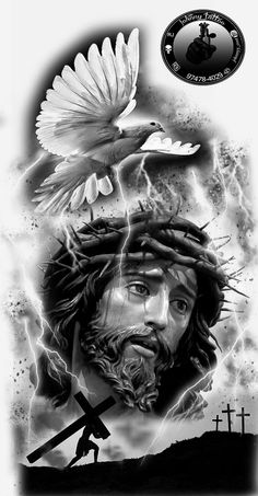 Jesus, tattoo preto e cinza ,desenho tattoo religiosas A reputation known around the world We are committed to make this tattoo process a positive experience all around. Religion Tattoos, Jesus Wallpaper, Jesus Drawings, Tattoo Drawings, Christus Tattoo, Tattoo Avant Bras, Jesus Tattoo Design, Kopf Tattoo, Heaven Tattoos