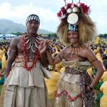 """Samoans dressed in their traditional outfit. And it's in """"America!"""""""