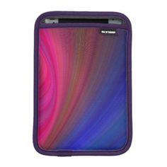 Sensuality iPad Mini Sleeves $50.80 *** Sensual pink and blue abstract curved fractal design - iPad sleeve