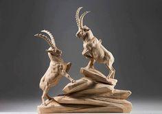 Amazing Wooden Sculptures by Italian Artist Giuseppe Rumerio. Impresionantes esculturas de madera por el artista italiano Giuseppe Rumerio.