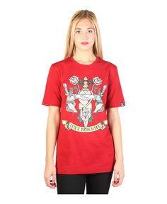 Love moschino - t-shirt m/c girocollo - 92% cotone, 8% elastane - lavare a 30° - scala taglia italiana - T-shirt donna Rosso