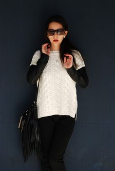 Thaïs Ribbon: Knitwear and Leather