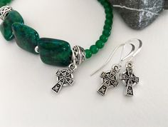 SALE! 10% off as marked - thru Mar. 19 + SEE SHOP ANNOUNCEMENT for discounted shipping offer too! Beautifully detailed silver pewter Celtic crosses on elegant .925 sterling... #trending #etsy #etsymntt
