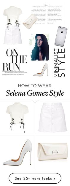 """White"" by andreea-maria-happygirl on Polyvore featuring Steve J & Yoni P, River Island and Christian Louboutin"