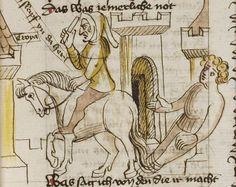 Thomasin <Circlaere>   Welscher Gast (b) Nordbayern (Eichstätt?), um 1420 Cod. Pal. germ. 330 Folio 30r