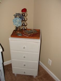 See the before pic of this cute little dresser!