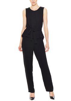 Black Peplum Jumpsuit