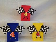 Race Car Party Centerpiece by DreamComeTrueParties on Etsy Hot Wheels Birthday, Hot Wheels Party, Race Car Birthday, Race Car Party, Cars Birthday Parties, 4th Birthday, Ben 1000, Race Car Cakes, Disney Cars Party