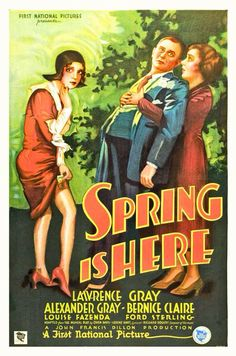Spring Is Here(1930) 6/10 - 4/2/15