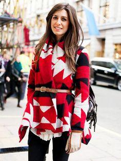Winter fashion was defined by Zara's Aztec blanket coat in 2009