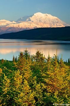 Wonder Lake and Mt. McKinley, Denali National Park, Alaska