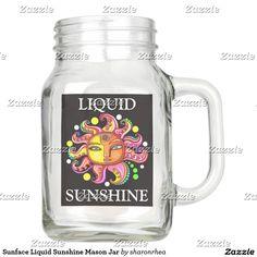 Sunface Liquid Sunshine Mason Jar