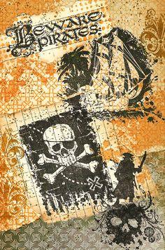 A Nostalgic Halloween: Sunday Postcard Art Challenge - Pirates