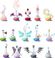 Another set of potions. It's the same potions as previous, just the bigger versions. Anime Weapons, Fantasy Weapons, Art Sketches, Art Drawings, Bottle Drawing, Magic Bottles, Elemental Magic, Weapon Concept Art, Magic Art