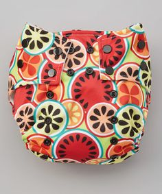 Take a look at this Coral Fruit Slices Pocket Diaper on zulily today!