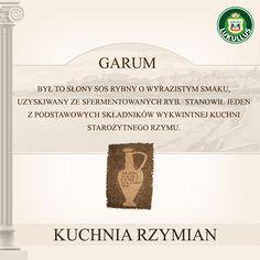 Lukullus podpowiada - garum w kuchni rzymskiej, to absolutna podstawa! Ciekawe ilu śmiałków odważyłoby się skosztować garum bez dodatków?