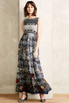 Anthropologie Hermant & Nandita Frost Cover Maxi Dress #anthrofave