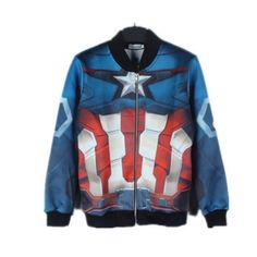 Avengers Age of Ultron sweatshirt 3D Captain America bomber jacket
