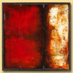modern abstract acrylic painting art  masonite square by kydo, $340.00