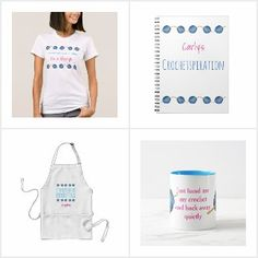 Crochet - with humour.  A collection of products (mugs, aprons, t-shirts etc) for anyone who loves crochet, all available to buy from Zazzle