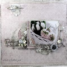 Stunning layout by Heather Jacob, using papers from MajaDesign's Vintage Baby collection.    #layout #LO  #papercraft #papercrafting #papercrafts #scrapbooking #scrapbook #scrapping #scrap #majadesign #majadesignpaper #majapapers #inspiration #vintage