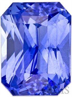 Super Beautiful Sapphire Loose Gem in Radiant Cut, Rich Cornflower Blue, 7.2 x 5.3 mm, 1.71 carats