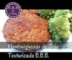 Estas hamburguesas hechas con soja texturizada en lugar de carne picada te van a sorprender. Esta receta es del blog BBB Y MÁS.