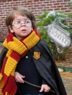hahaha too cute! my little boy will not have a choice- he will be harry potter for halloween one year!