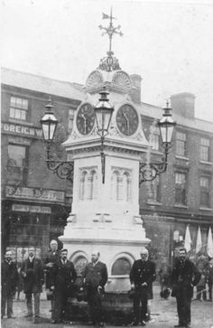 Unveiling of the clock in honour of the peoples doctor, Dr Joseph Tonks. May Market Place Willenhall. Friendly Society, Local Studies, Queen's College, Wille, Belle Epoch, Walsall, Drinking Fountain, National School, Wolverhampton