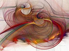 Fractal Digital Art - Abstract Art Print Inflammable Matter by Karin Kuhlmann