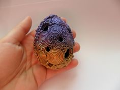 Polymer Clay Filigree Egg Tutorial by Worldofjewelry