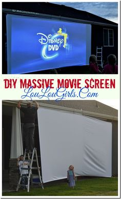 "You might remember my post last month on the DIY Outdoor Movie Theater Screen. Well, apparently that wasn't big enough or cool enough for my awesome hubby. He wanted something HUGE! So, away he went figuring out how to make the screen even more MASSIVE. This screen is 20 feet long by 10 feet high. … Continue reading ""DIY Massive Movie Screen Instructions"""