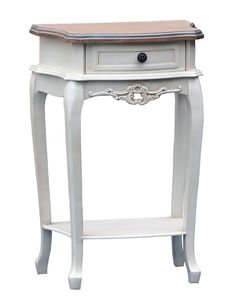 Antique painted bedside table will cost less than a real antique one.