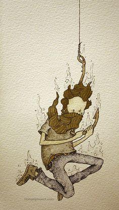 Clint Reid - Watercolor Illustration of man