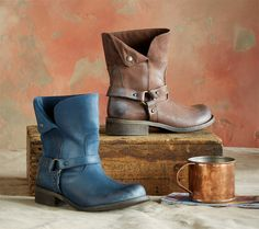 Salt River Boots - Leather Italian boots for those who like to carve their own path. Burnished leather and ring harness accents for a time-worn authenticity.