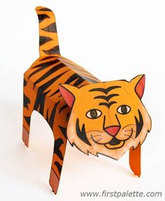 Step 16 folding paper zoo animals fun animal crafts for kids животные, бума Cheetah Crafts, Tiger Crafts, Cat Crafts, Safari Animal Crafts, Animal Crafts For Kids, Safari Animals, Bible Crafts For Kids, Paper Crafts For Kids, Craft Activities For Kids