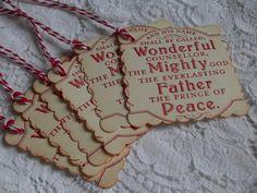 Handmade Christmas Gift Tags  Faith  by TatteredRosesPaperie, $4.99