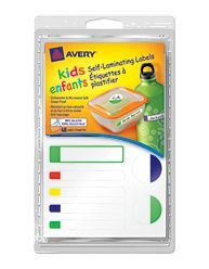 "Avery Self-Laminating Labels for Kids"" Gear 41425, Packaging Image"